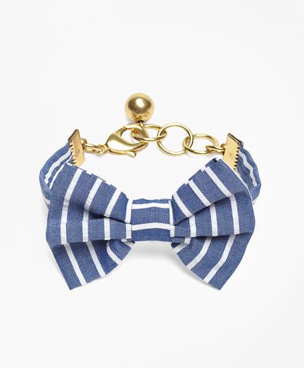 Kiel James Patrick Seersucker Stripe Bow Tie Bracelet