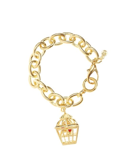 Birdcage Charm Bracelet Gold