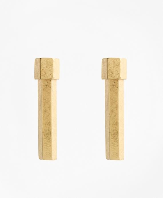 Geo Bar Stud Earrings Gold