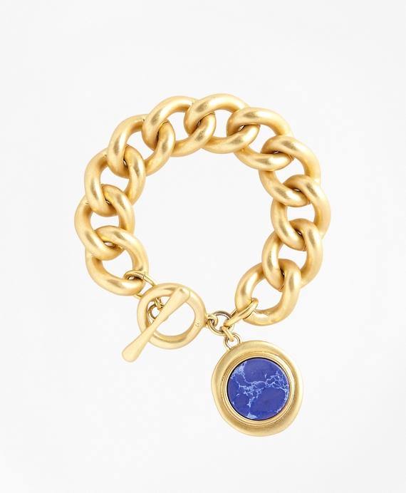 Gold-Plated Toggle Pendant Bracelet Gold