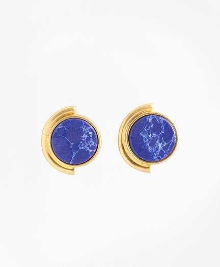 Gold-Plated Geometric Stud Earrings