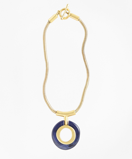 Gold-Plated Pendant Necklace
