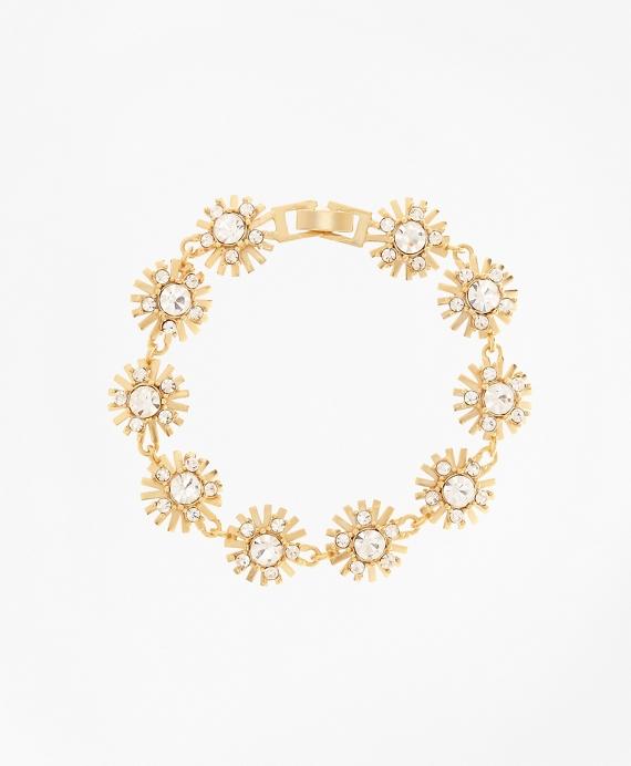 Crystal Starburst Bracelet Gold