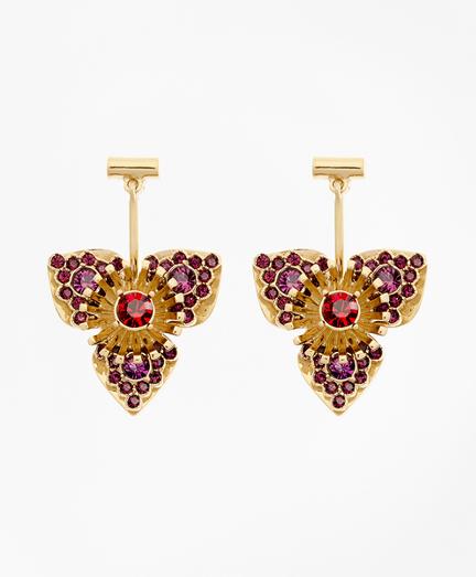 Swarovski Crystal Floral Drop Earrings