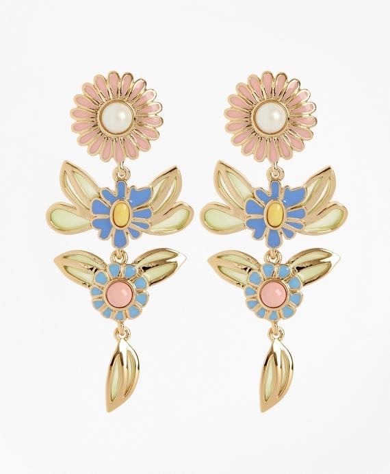 Floral Drop Earrings Gold