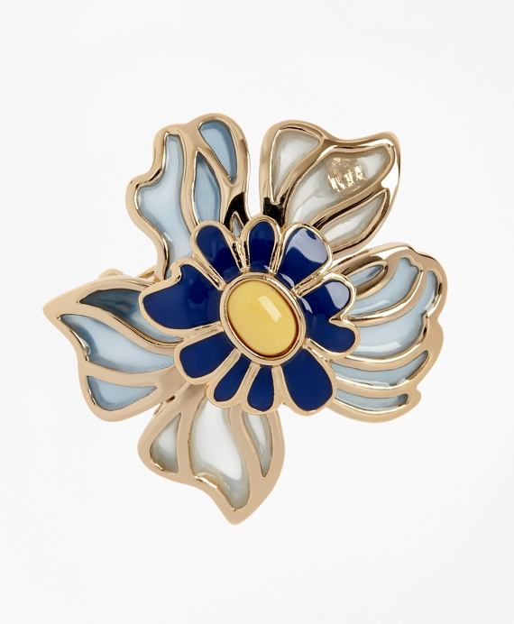 Small Floral Brooch Gold