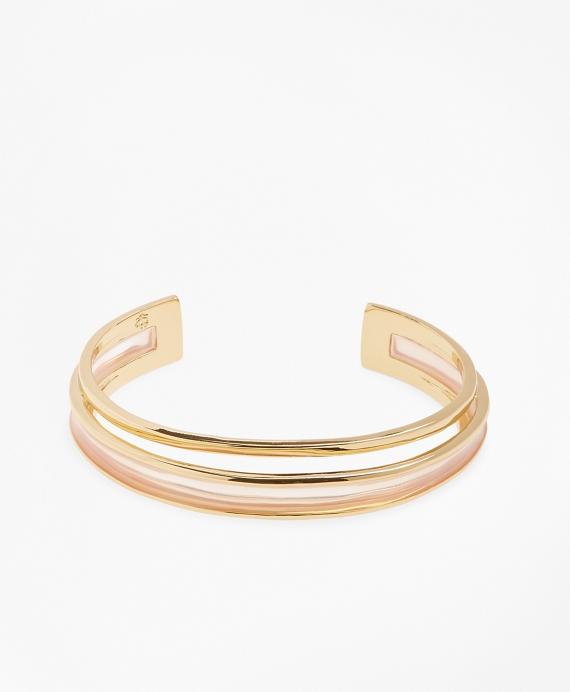 Plique-a-Jour Enamel Cuff Bracelet Gold