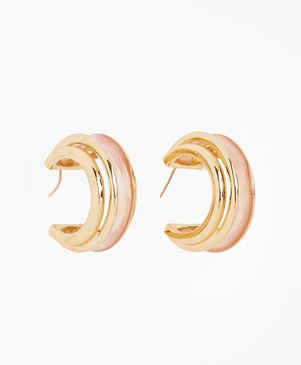Plique-a-Jour Enamel Hoop Earrings