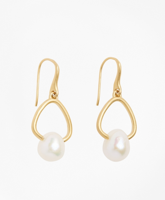 Freshwater Pearl Gold-Plated  Drop Earrings Gold