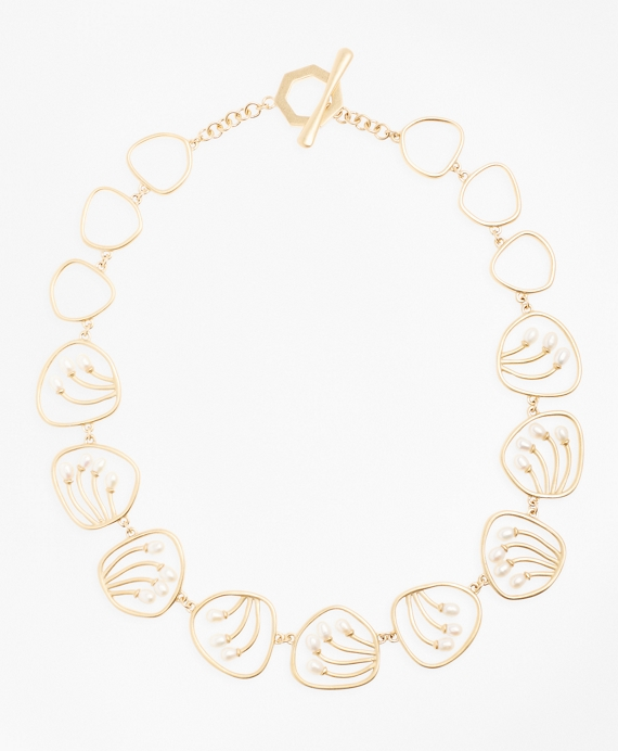 Freshwater Pearl Gold-Plated Necklace Gold