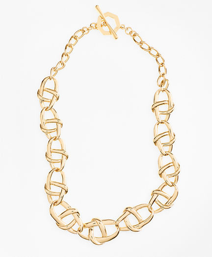 Gold-Plated Nautical Link Necklace