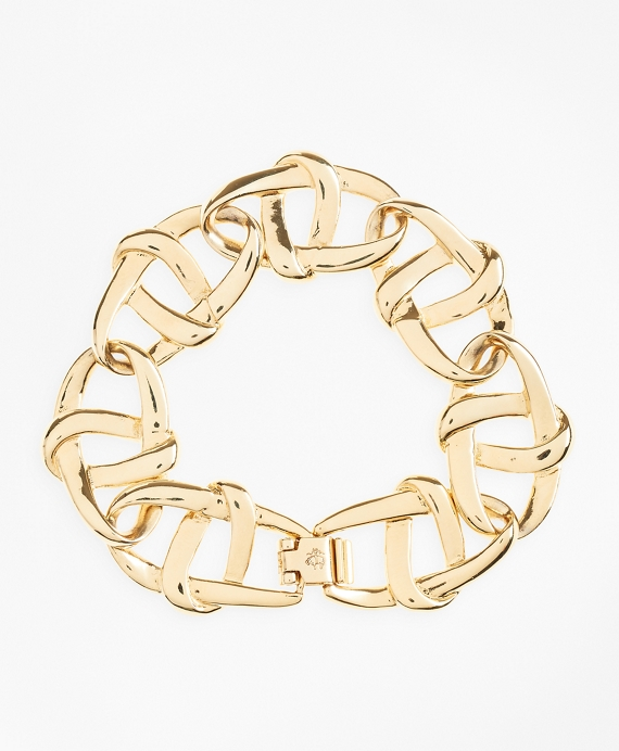 Gold-Plated Nautical Link Bracelet Gold