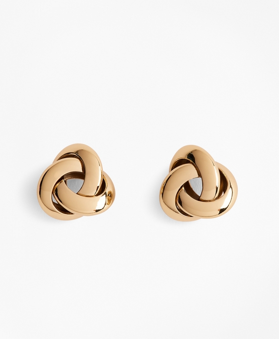 Gold-Plated Nautical Knot Earrings Gold