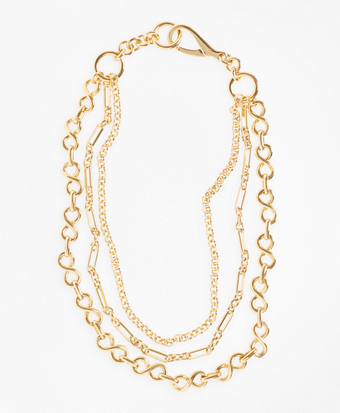 Gold-Plated Three-Layer Chain Necklace