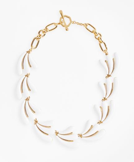Enameled Petal Necklace