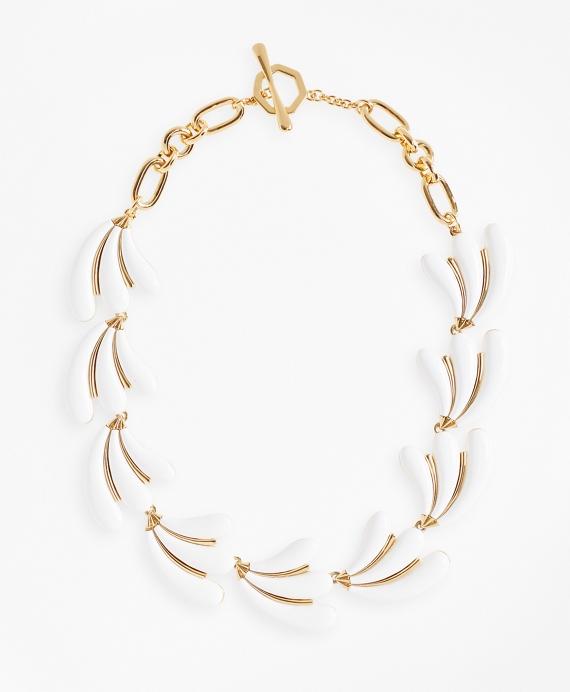 Enameled Petal Necklace Gold