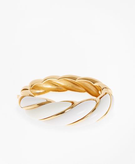 Enameled Petal Cuff Bracelet