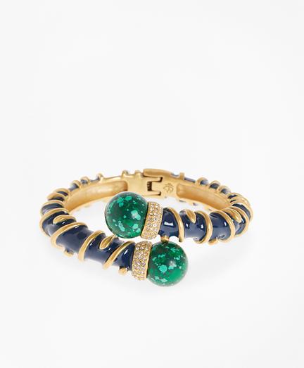 Enameled Vine Cuff Bracelet