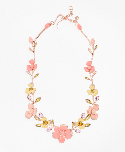 Pansy Floral Necklace
