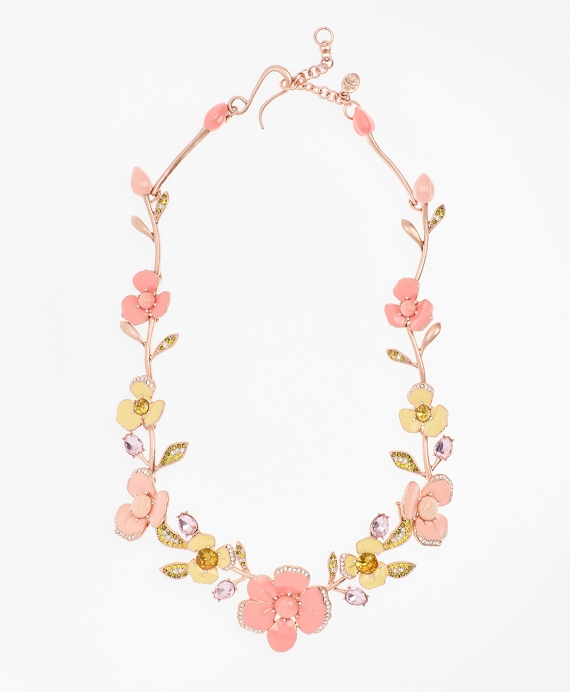 Pansy Floral Necklace Pink