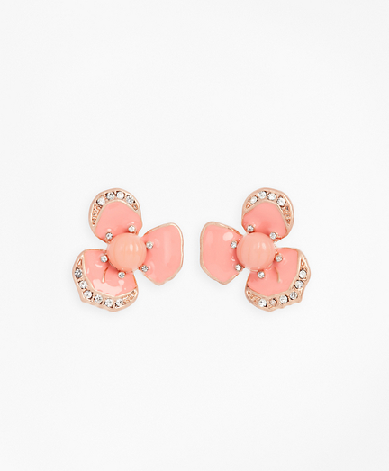 Pansy Floral Earrings