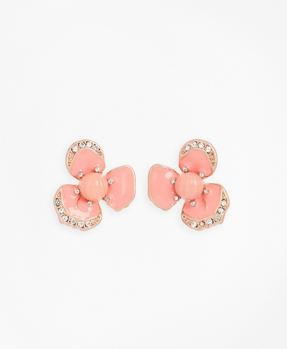 Pansy Floral Earrings Pink