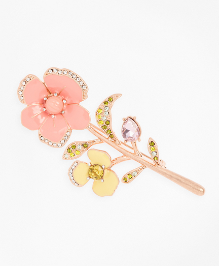 Pansy Floral Brooch
