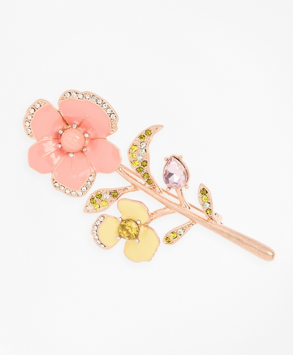 Pansy Floral Brooch Pink