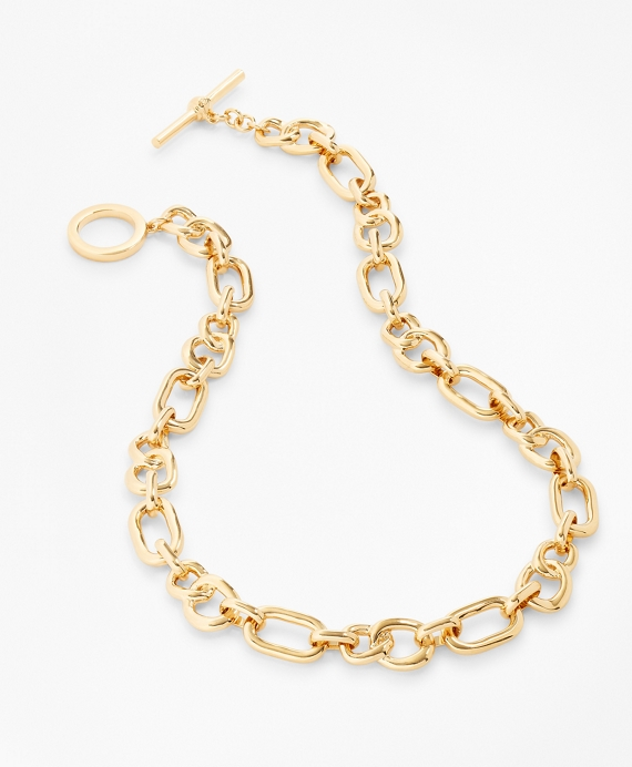 Gold-Plated Chain Necklace Gold