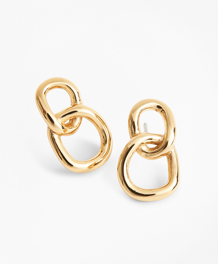 Gold-Plated Chain Earrings