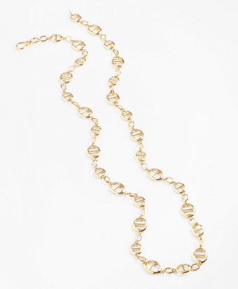 Gold-Plated BB-Link Chain Necklace