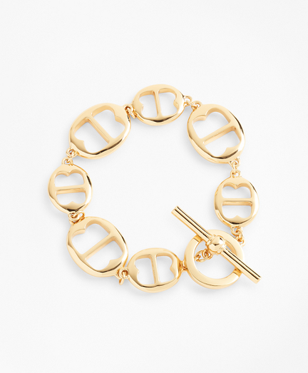Gold-Plated BB-Link Chain Bracelet