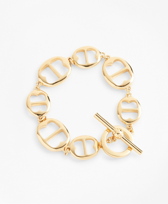 Gold-Plated BB-Link Chain Bracelet Gold