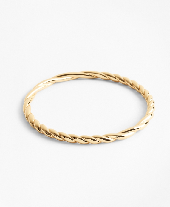 Gold-Plated Rope Bangle Bracelet Gold