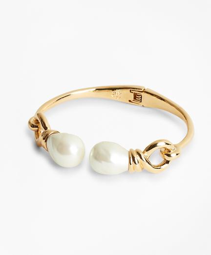 Baroque Glass Pearl Cuff Bracelet