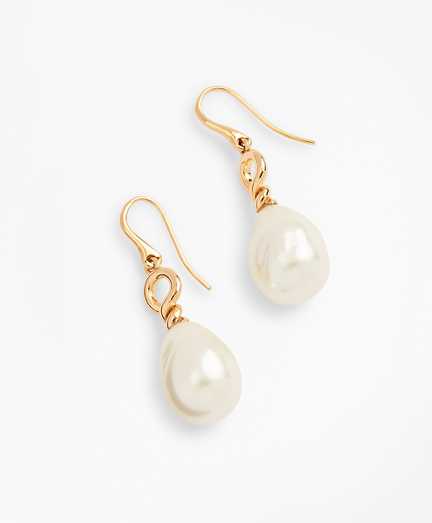 Baroque Glass Pearl Drop Earrings