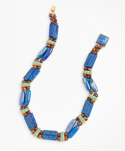 Lapis Lazuli and Tiger's Eye Necklace