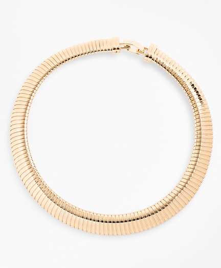 Gold-Plated Omega Chain Collar Necklace