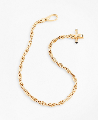 Gold-Plated Rope Chain Necklace