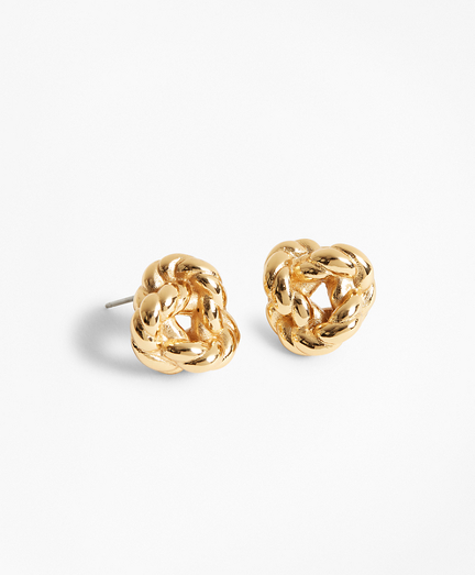 Gold-Plated Rope Knot Earrings