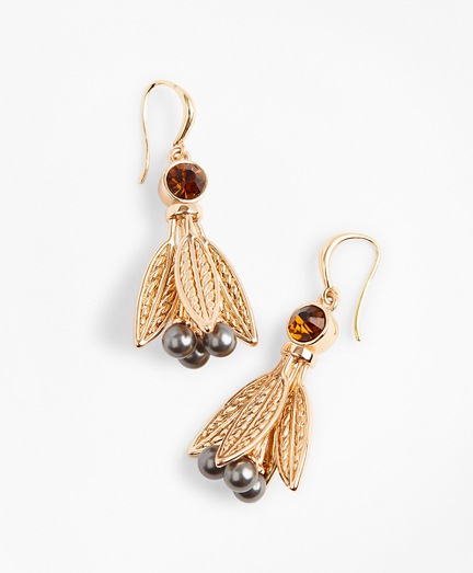 Swarovski Crystal & Glass Pearl Earrings