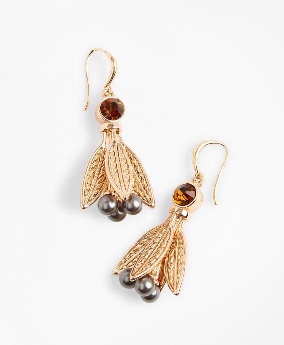 Swarovski Crystal & Glass Pearl Earrings Gold
