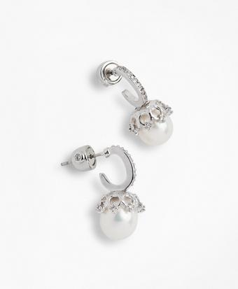 Crystal & Freshwater Pearl Drop Earrings