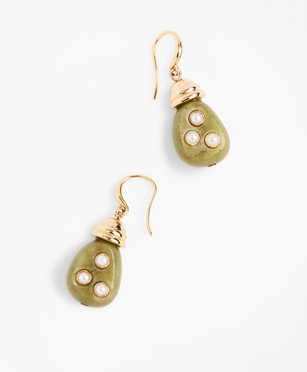 Jade & Pearl Drop Earrings