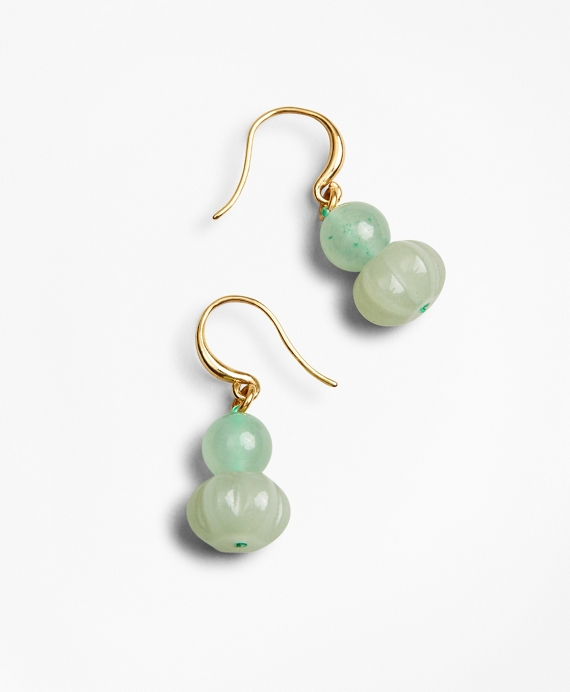 Quartz Drop Earrings Green