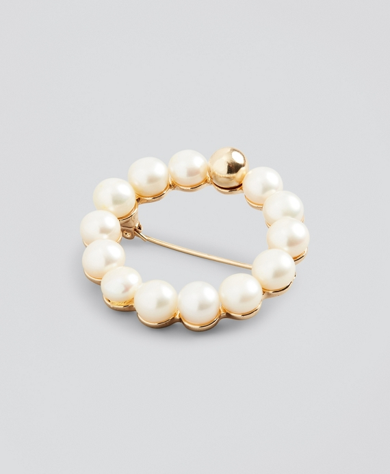 Freshwater Pearl Brooch White