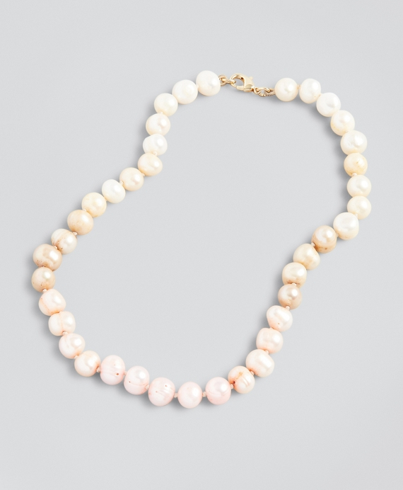 Ombre Freshwater Pearl Necklace Light Pink