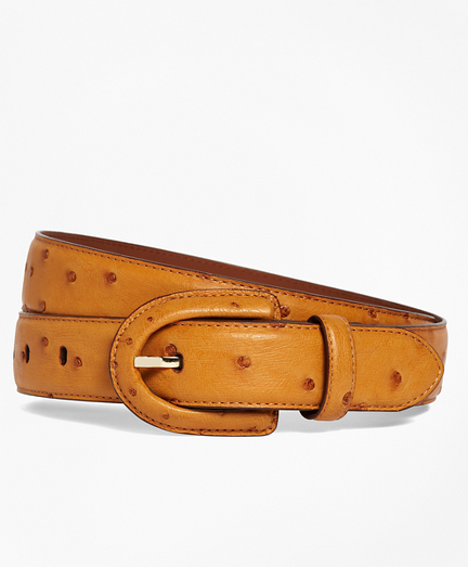 Ostrich Covered Buckle Belt