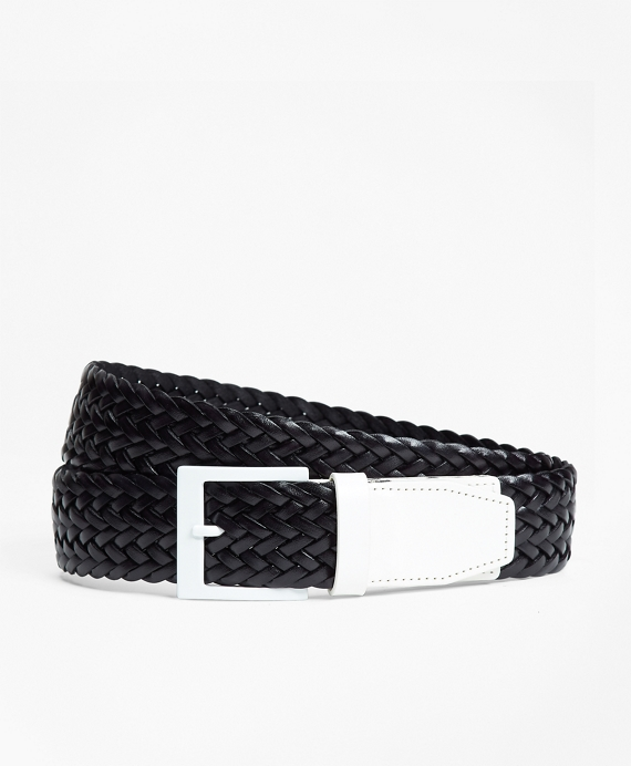 Two-Tone Woven Leather Belt