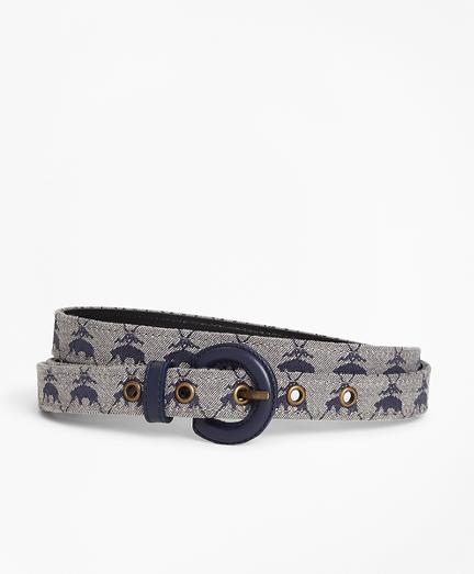 Logo Jacquard Waist Belt